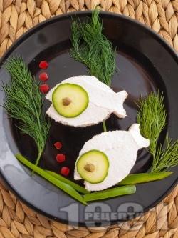 Детски сандвичи с хайвер - снимка на рецептата